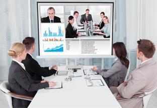 Teamarbeit mit Videokonferenzsystemen